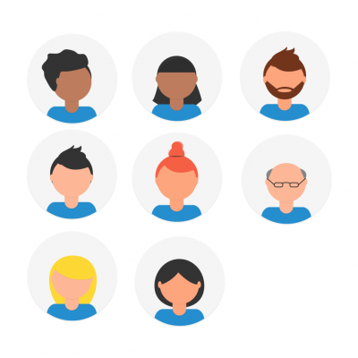 Illustrations of ticket management software users